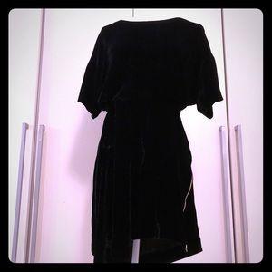 Isabel marant velvet mini dress with belt
